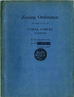 Zoning Ordinance Of The City Of Coral Gables Florida