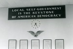 Local self-government is the keystone of American democracy, 1968