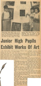 Junior high pupils exhibit works of art