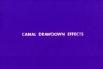 Turner River studies: canal drawdown effects